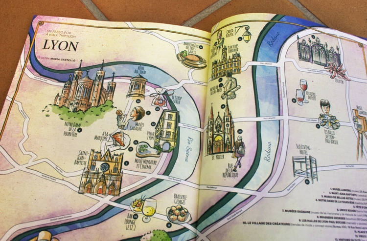 Map Lyon Issue Ling Magazine - illustratedmaps: - mariacastellosolbes | ello