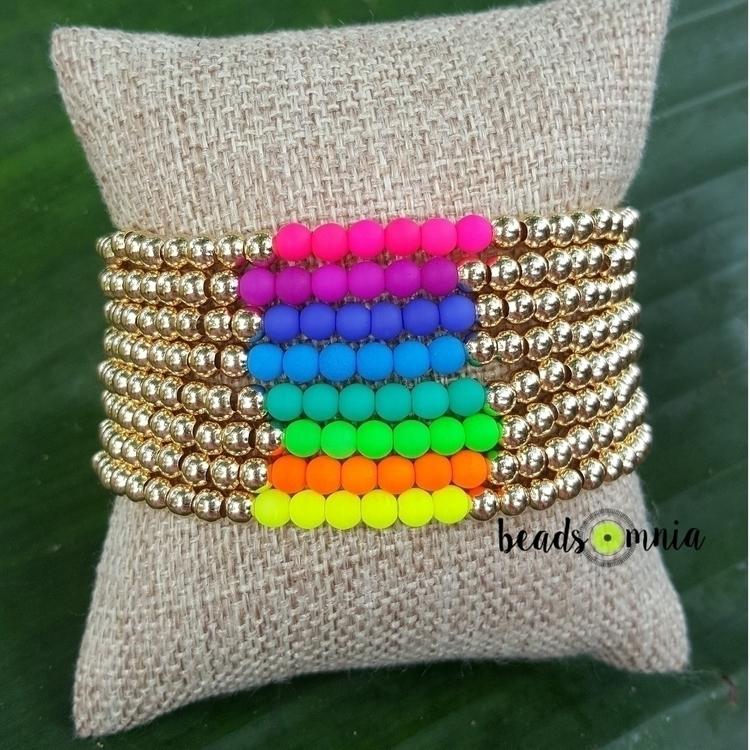 Love neon skinnies! :crystal_ba - beadsomnia | ello