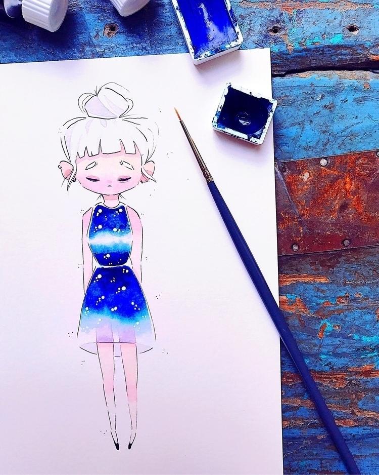 artwork#watercolor - sarafaber | ello