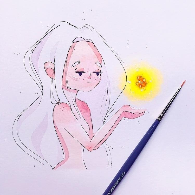 artwork, watercolor, light - sarafaber | ello