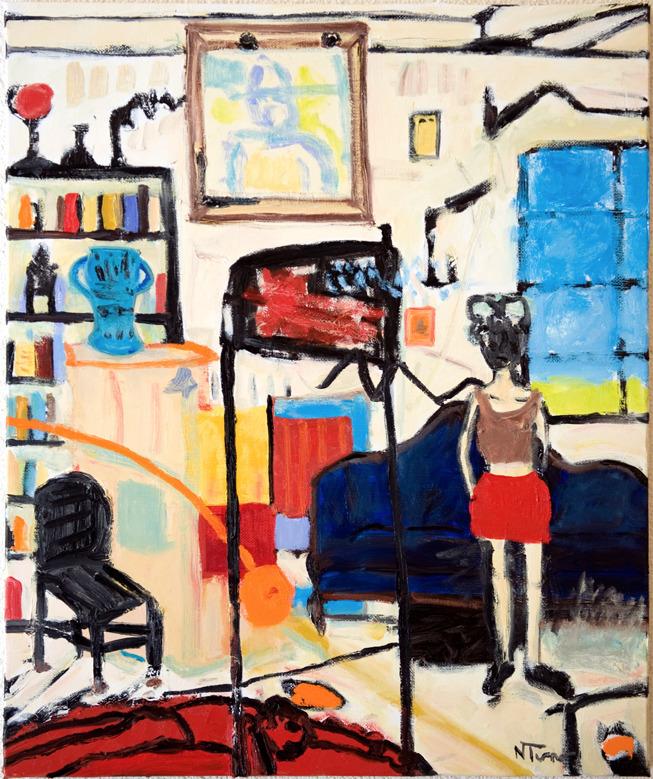 Guiana Dining Room Oil canvas 2 - nealturner | ello