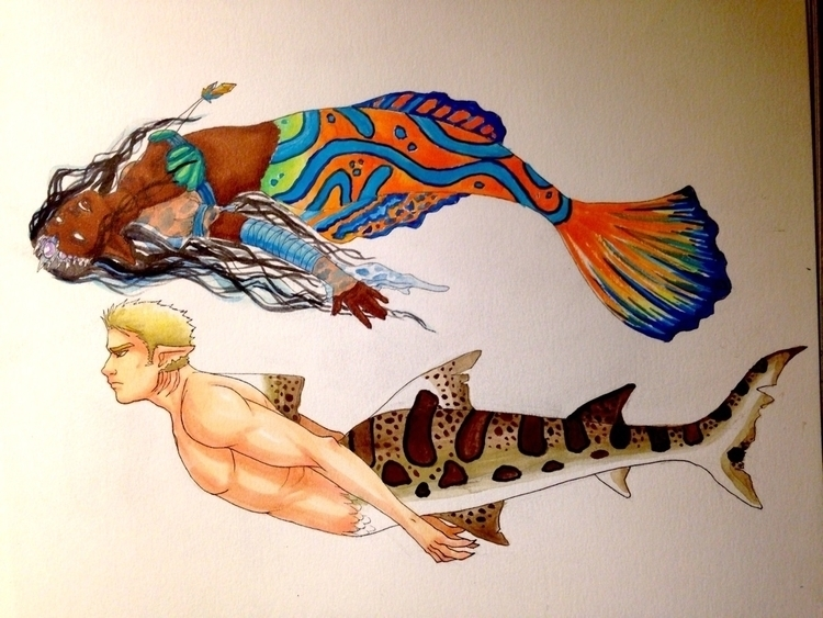Mermay WIP- otp Markers waterco - afearsomeartisan | ello