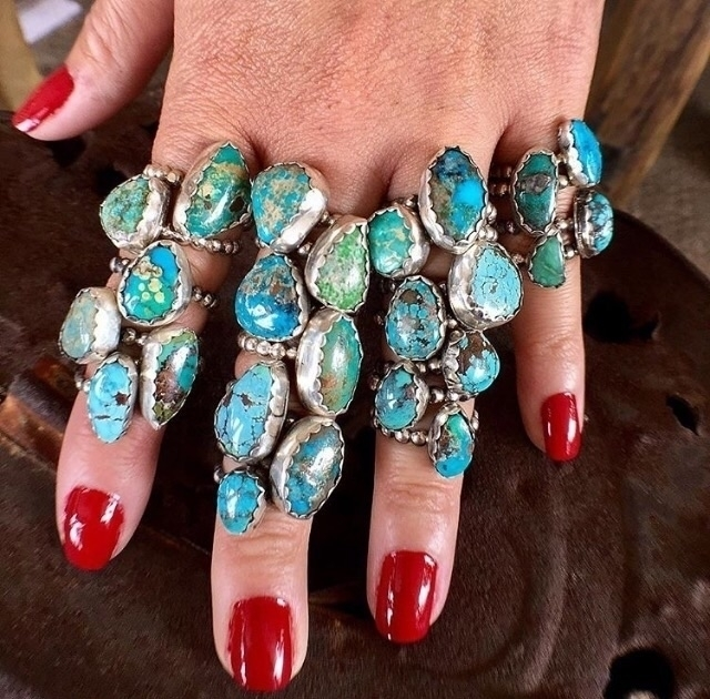 Stacking Turquoise Rings - turquoise_royal | ello