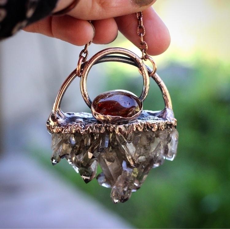 smoky quartz crystal cluster in - davkadeergirl | ello