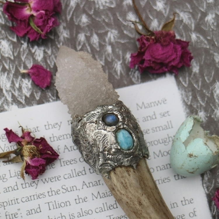 :gem:Larimar key stone communic - wildnocturna | ello