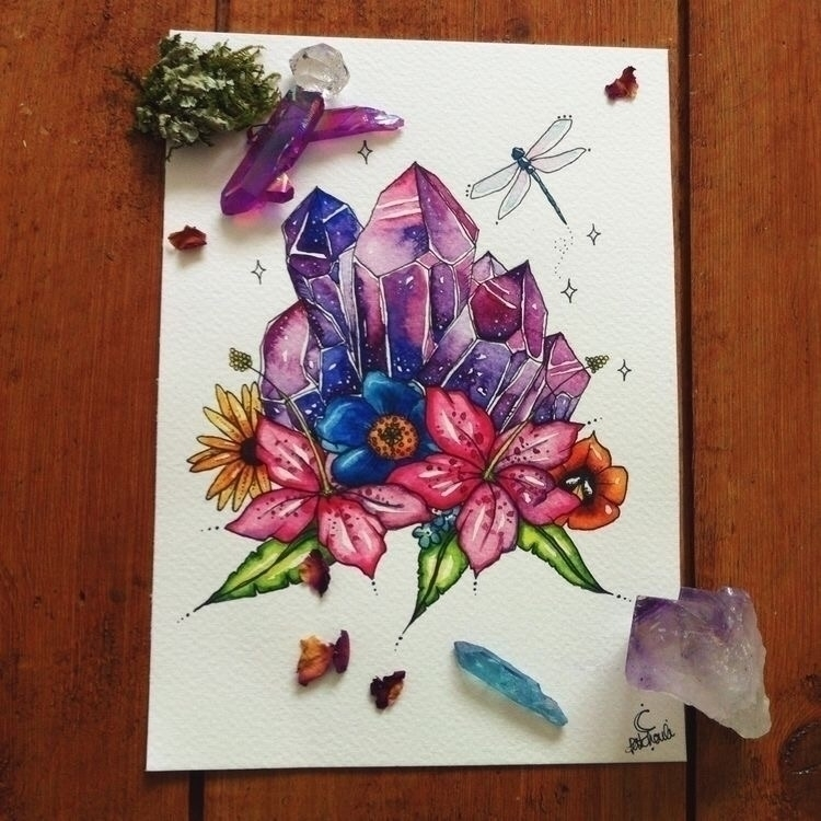 Crystal tattoo inspiration:spar - ellocrystalart   ello