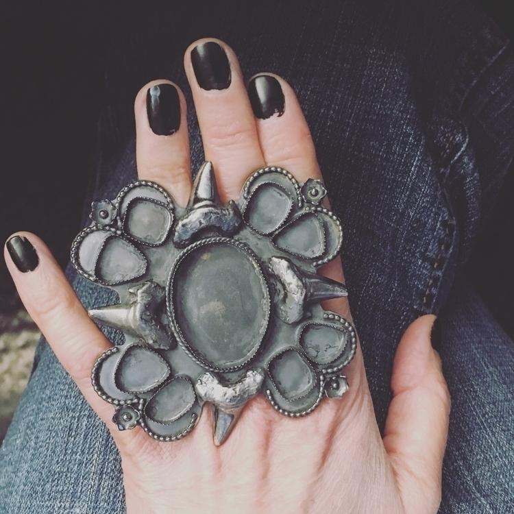 Tiffany stone Amethyst statemen - raedeersilver | ello