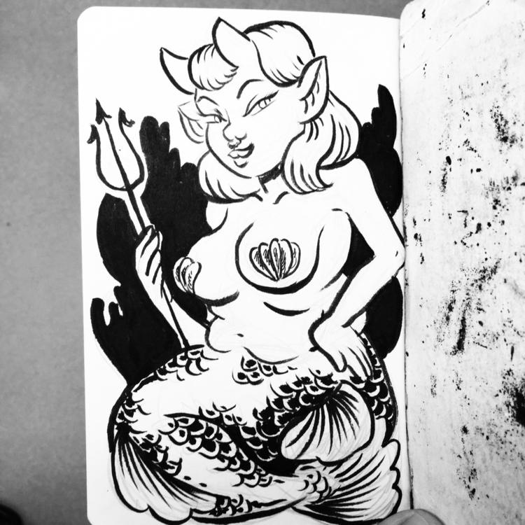 Merccubus (mermaid succubus - mermay - royallyeric | ello