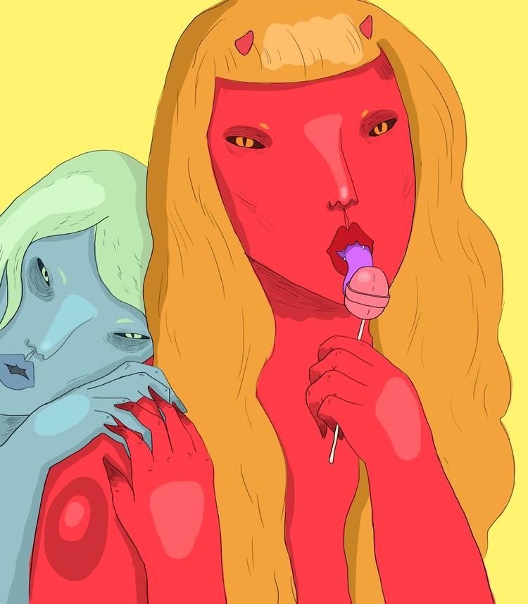 licks - art, illustration, lowbrow - missjaws | ello