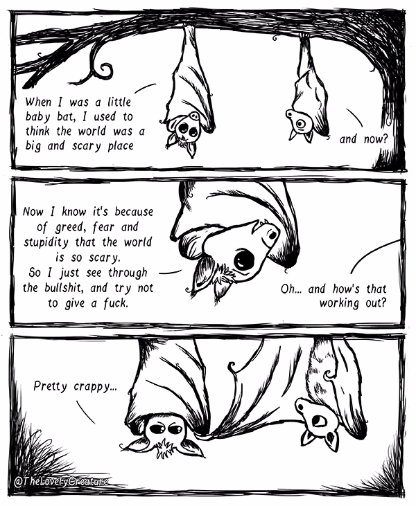 world scary place... bats - comic - thelovelycreature | ello