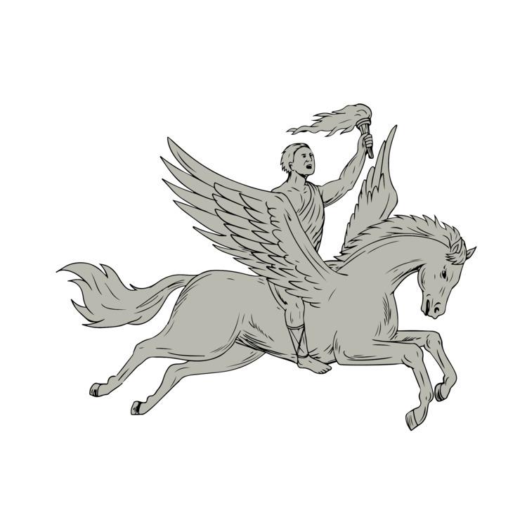 Riding Holding - Bellerophon, Pegasus - patrimonio | ello