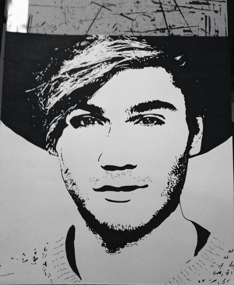 drawing, georgeshelley, blackandwhite - pollydesia | ello