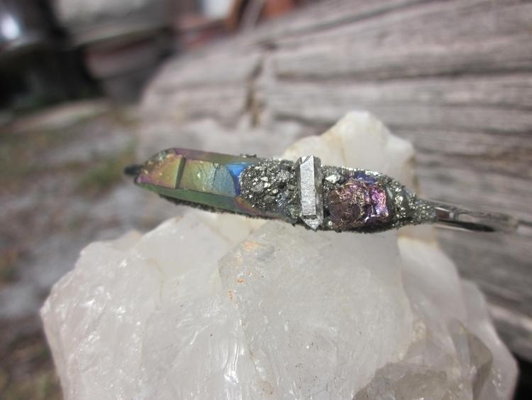 kind raw stone cuff - ello, etsyseller - stonegypsy | ello