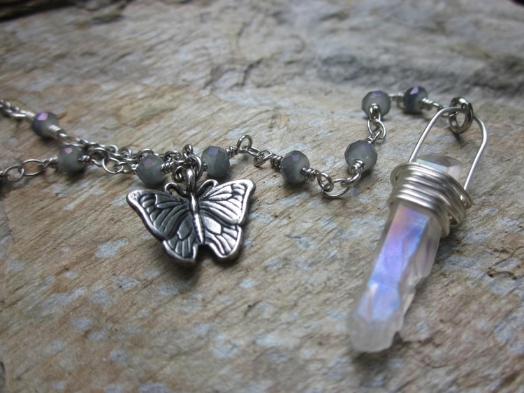 Butterfly choker necklace! 4 1 - stonegypsy | ello