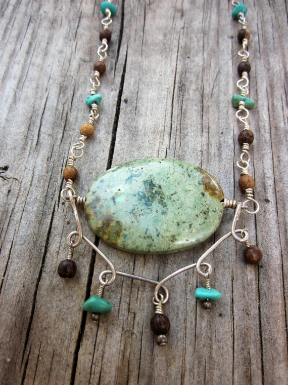 Sterling silver turquoise neckl - stonegypsy | ello