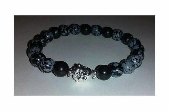 Buddha Black Obsidian Snowflake - yinyanggirldesigns | ello