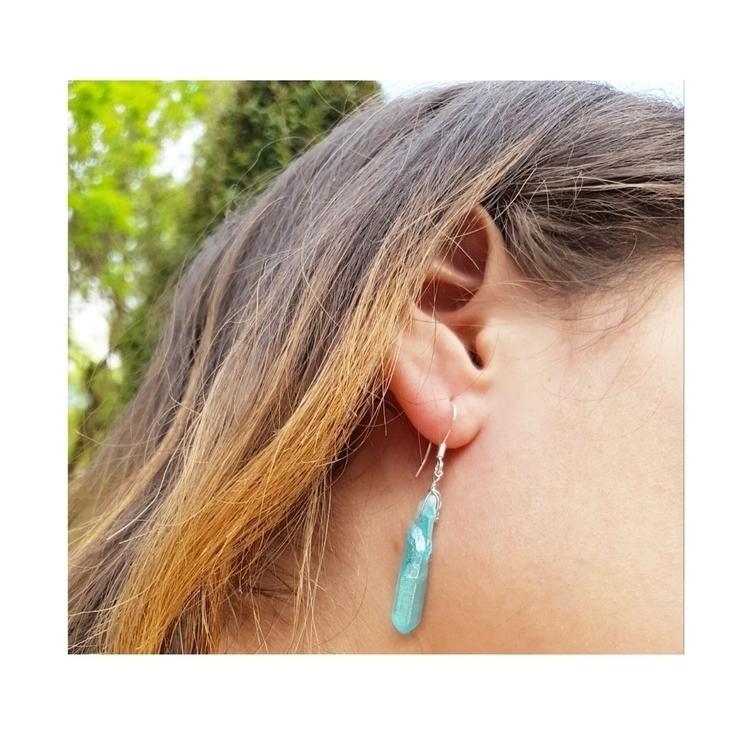 Aqua aura earrings - mindseyemagik   ello