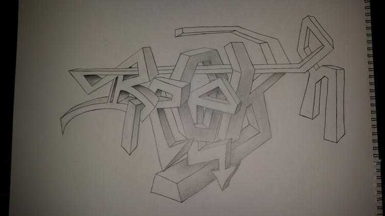 Graffiti style - Drawing, Illustration - tzikitina | ello