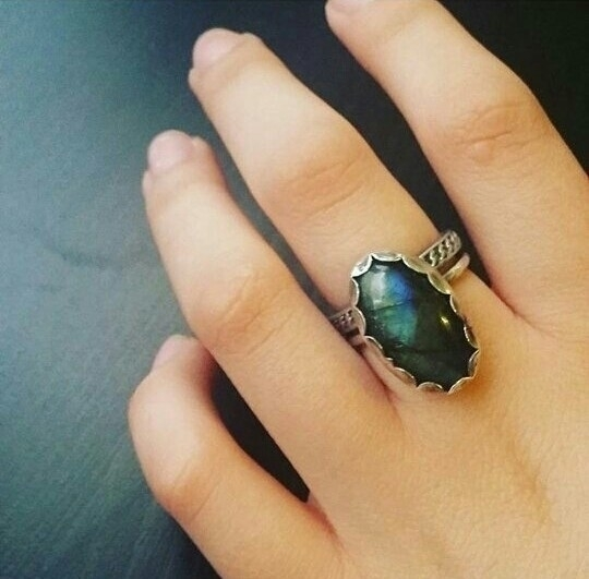 Custom Labradorite Ring | Remem - thejuniperdiaries | ello