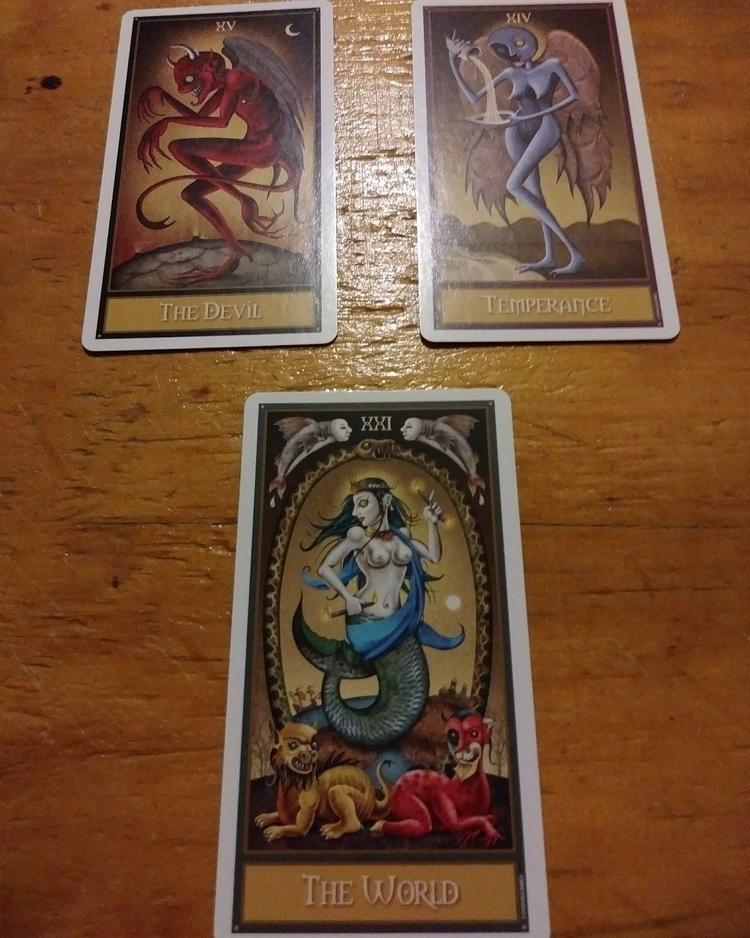 Deviant Moon Tarot 3 card sprea - readingsbyv   ello