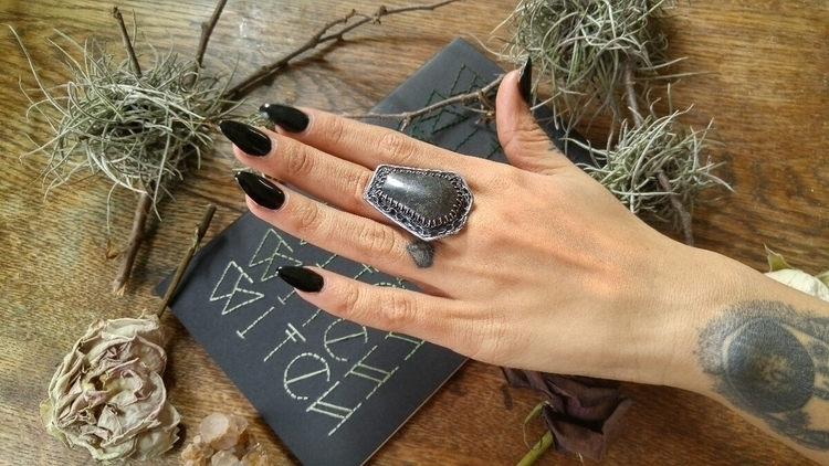 Native copper coffin ring model - silvercravt | ello
