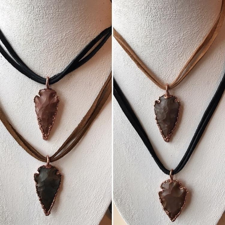 Electroformed arrowhead necklac - yamsjewelry | ello