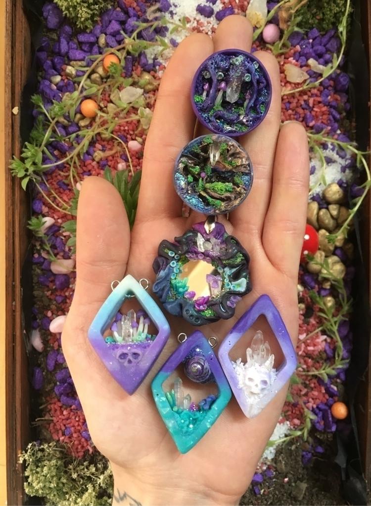 polymerclay, pendant, necklaces - petruumsland | ello