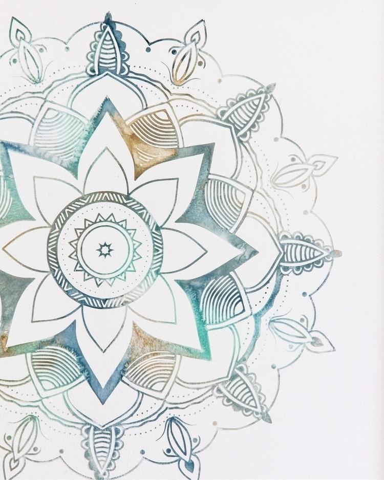 Hand painted Mandala details - elloartist - eastplum | ello