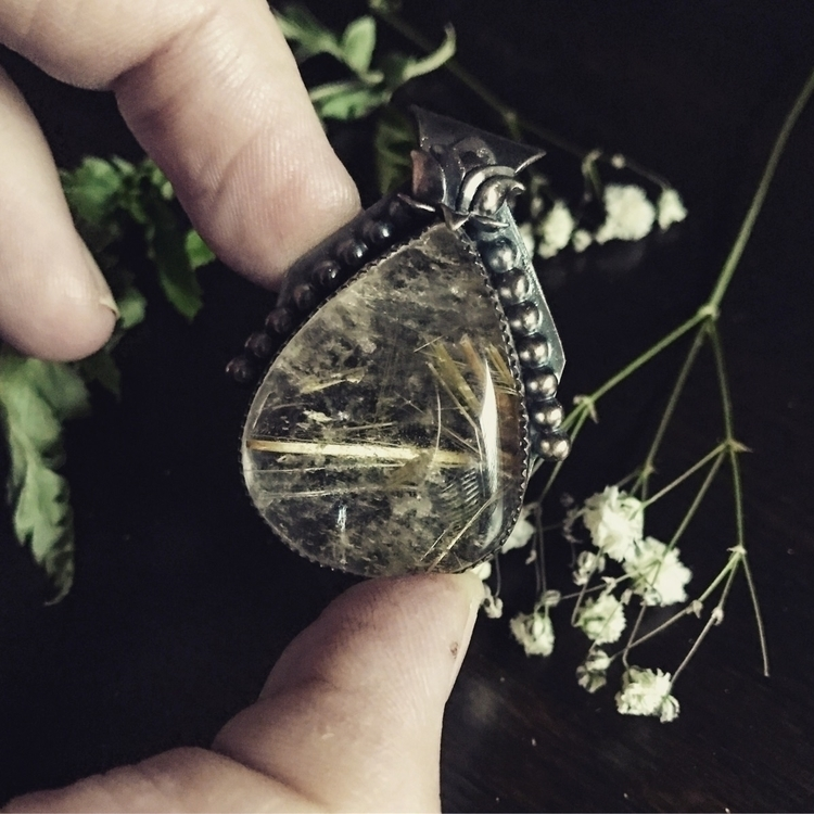 Golden rutilated quartz lotus a - moonandmountainmagick | ello