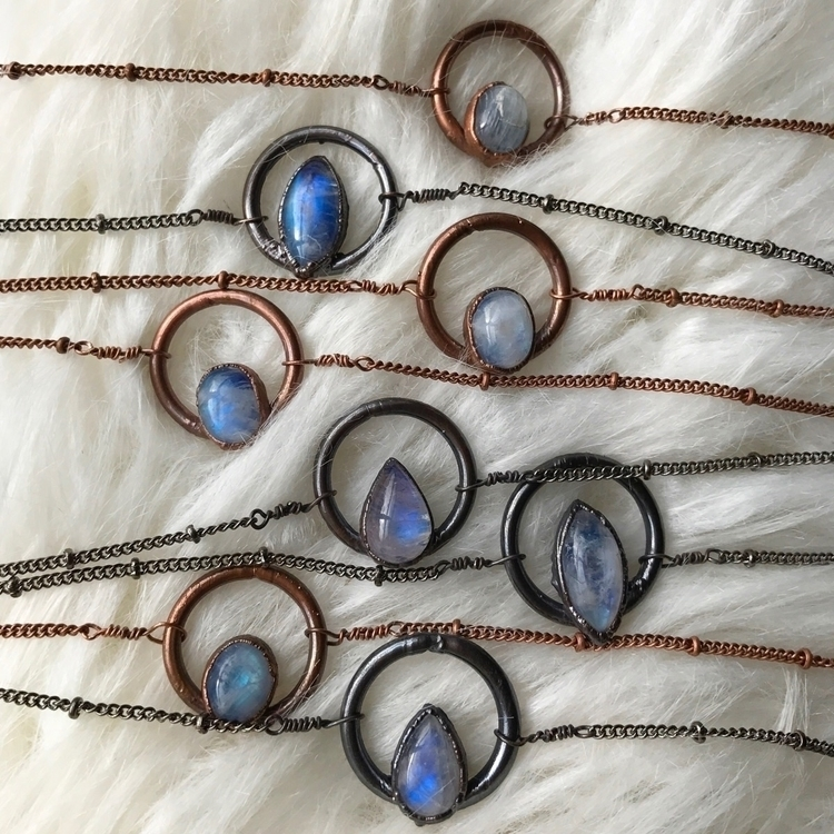 Moonstone Copper Chain Chokers  - auraluna | ello