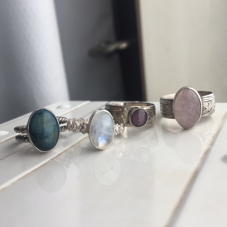 loving customs Moonchild rings  - autumnjadestudio | ello