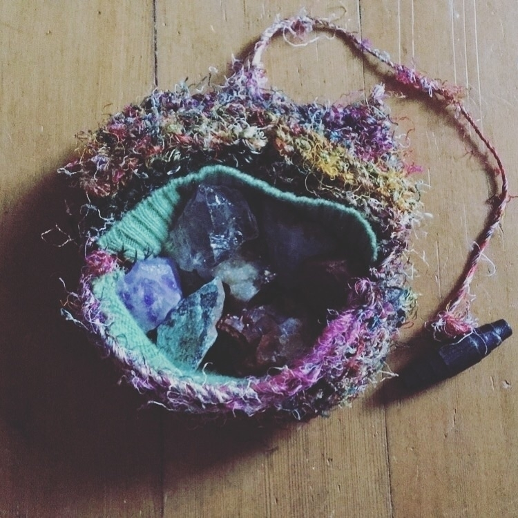 Chakra set recycled silk knit b - feralhealing | ello