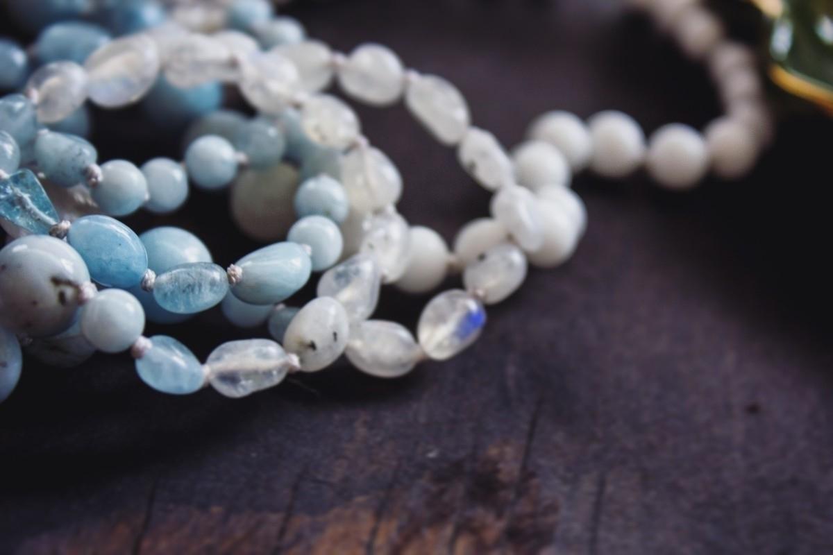 Soothing Aquamarine Moonstone v - wildkrystals | ello
