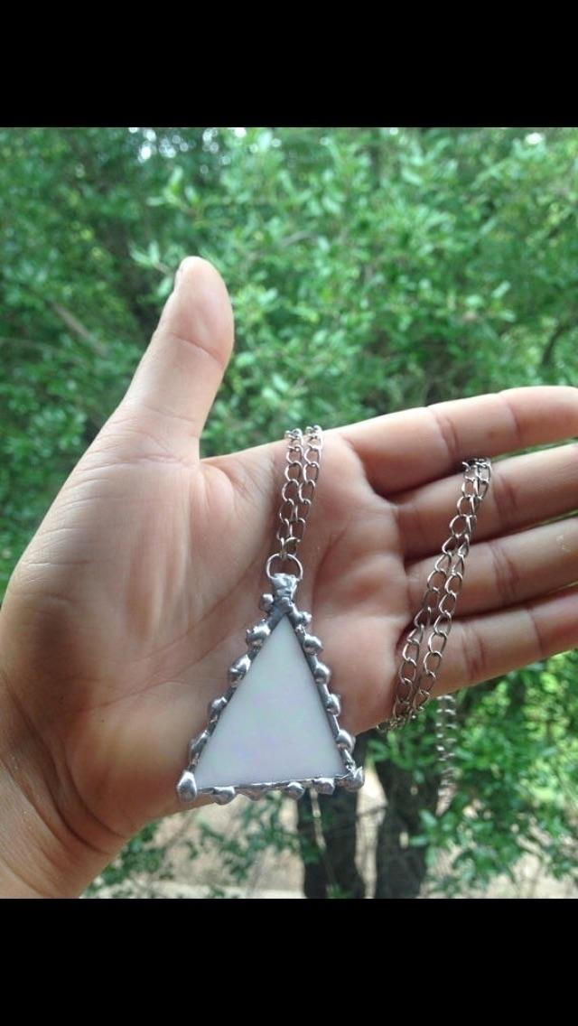 live shop rainbow glass necklac - lustrouslove | ello
