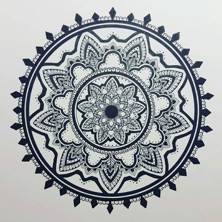 Black White - mandala, mandalasharing - toinspireworld-bytriinun | ello