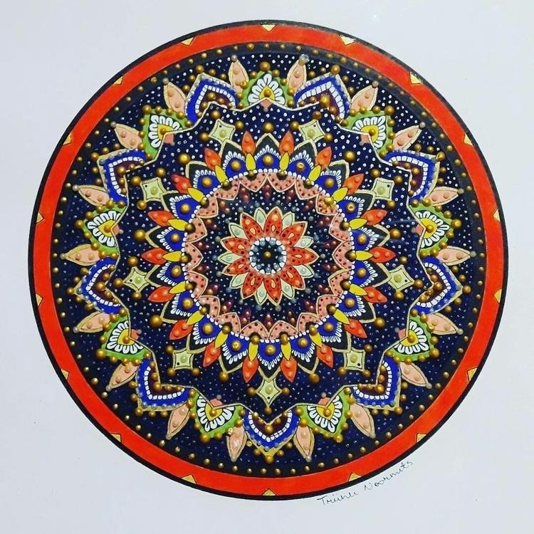 Super colorful. mandala - mandalasharing - toinspireworld-bytriinun | ello