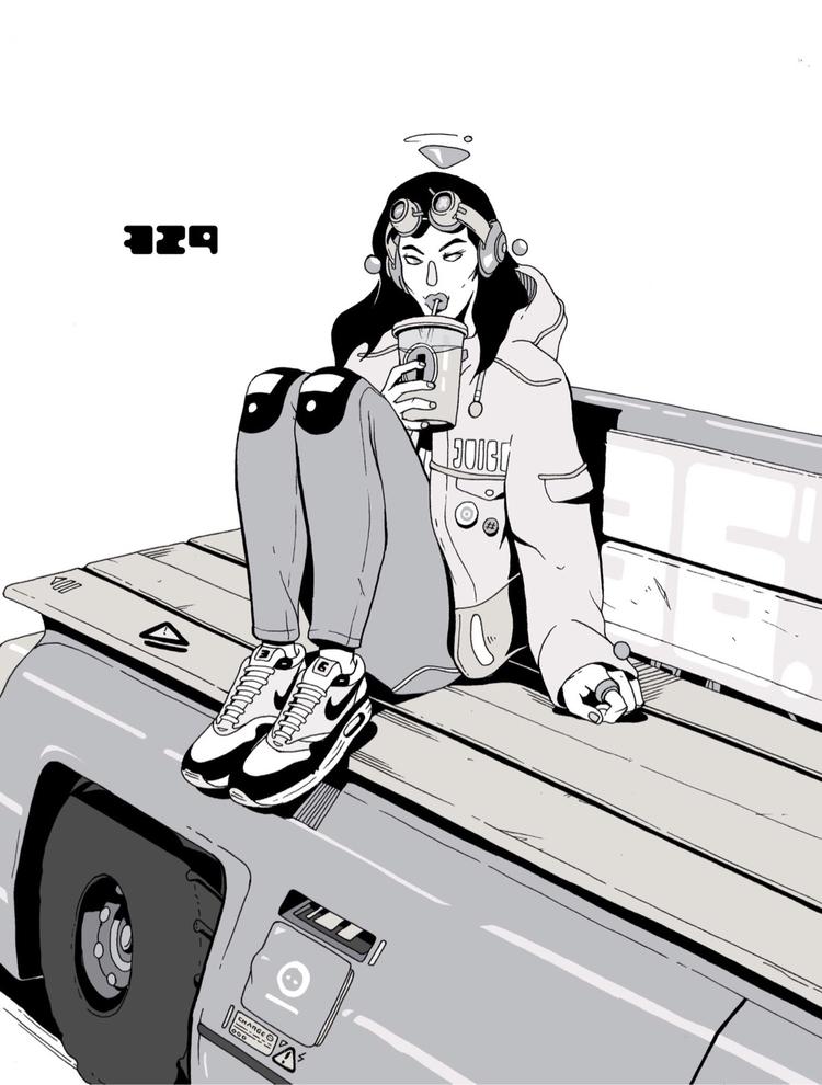 Day 329/365: Juice - illustration - 1sles | ello