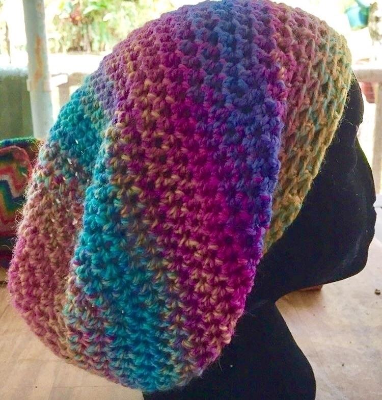 Hand 100% woollen slouchy - hat - medusas_handmade | ello