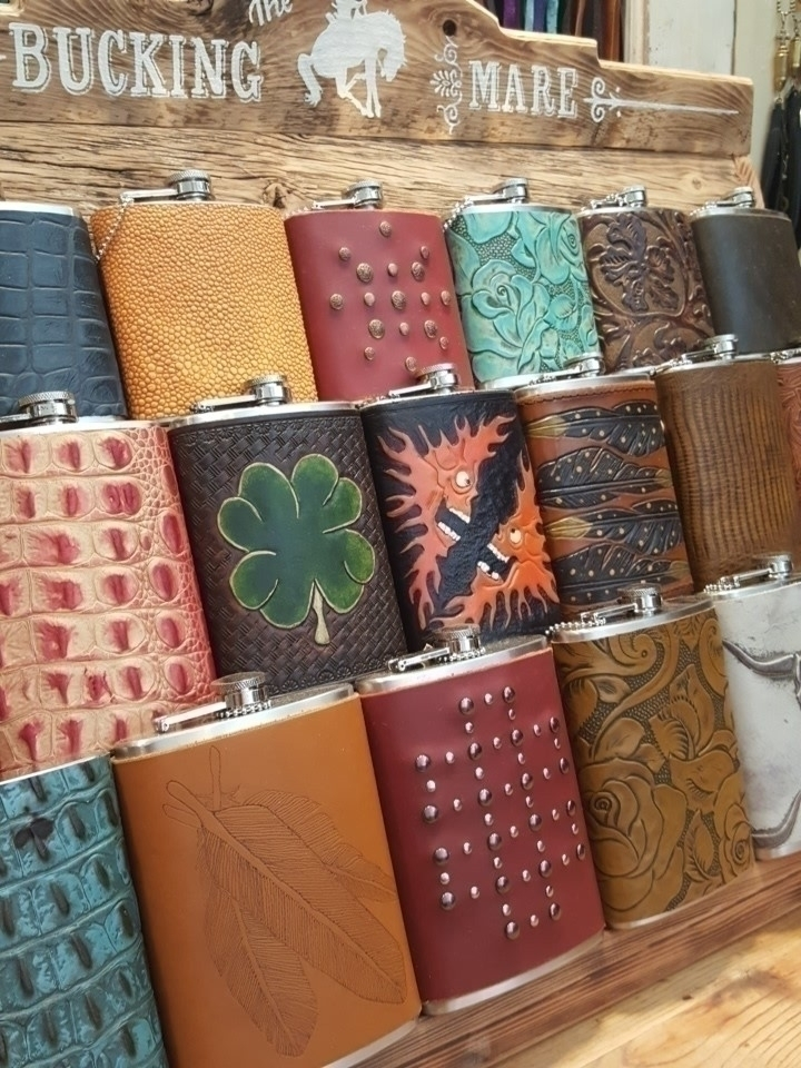 Flasks days days.....#leather - leatherworker - thebuckingmare | ello