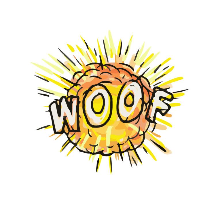 Explosion, Woof, Cartoon, retro - patrimonio | ello
