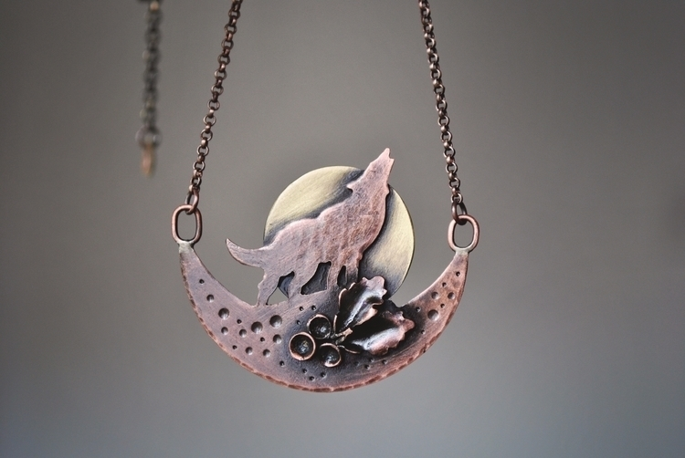 Howling Moon copper brass - jewelry - twistedjewelry | ello