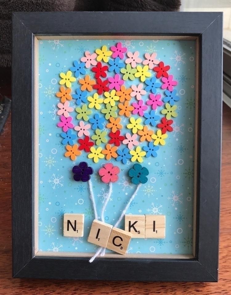 Balloon inspired custom frame - art - sln_creations | ello