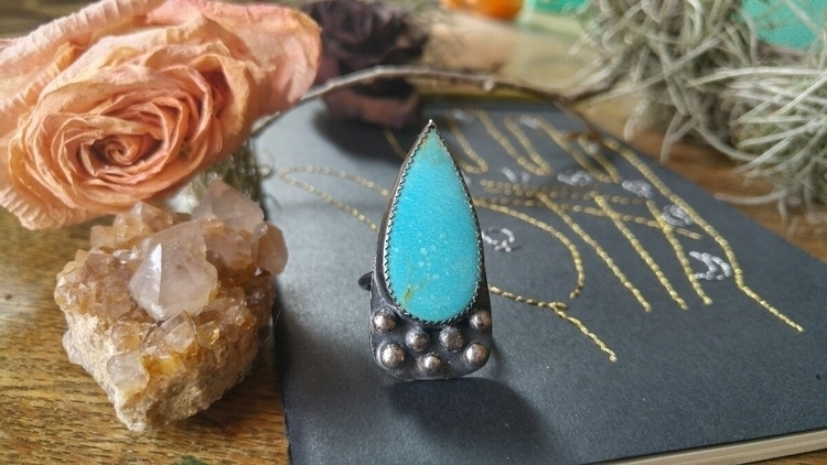 kingman turquoise teardrop babe - silvercravt | ello