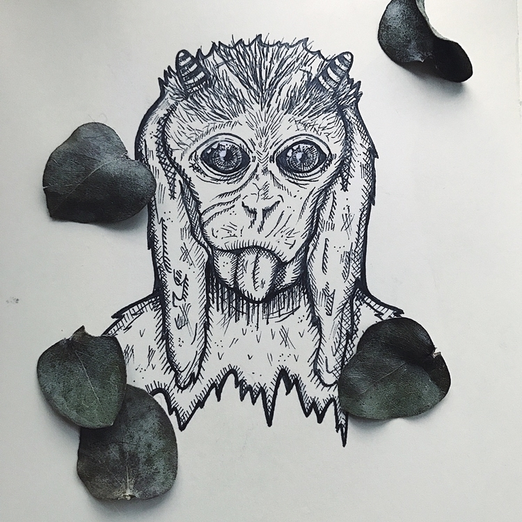 creatures sticker series  - creature - mikaelaelle | ello