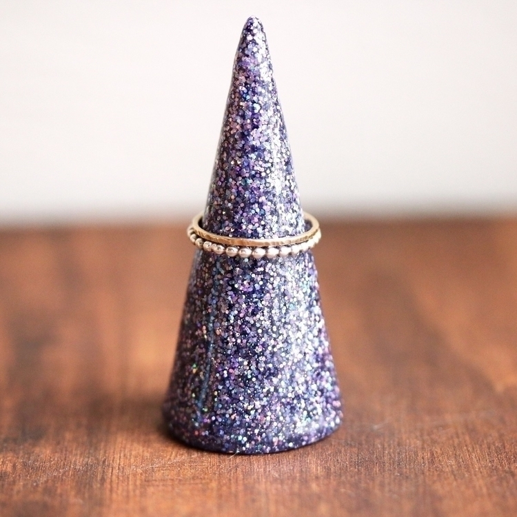Mini ring cone, shown purple fa - tinygalaxies | ello