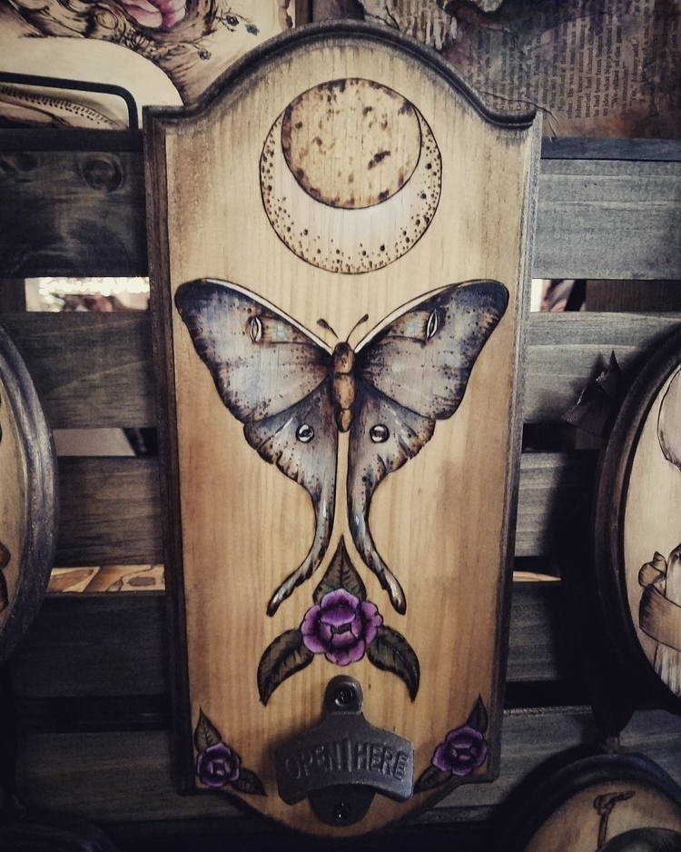Moon Moth Beer Bottle opener.♡ - etchedinembers | ello