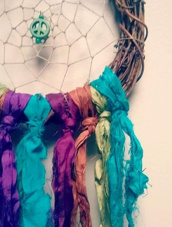 love unique beauty Sari Silk - dreamcatcher - bohemianfire | ello