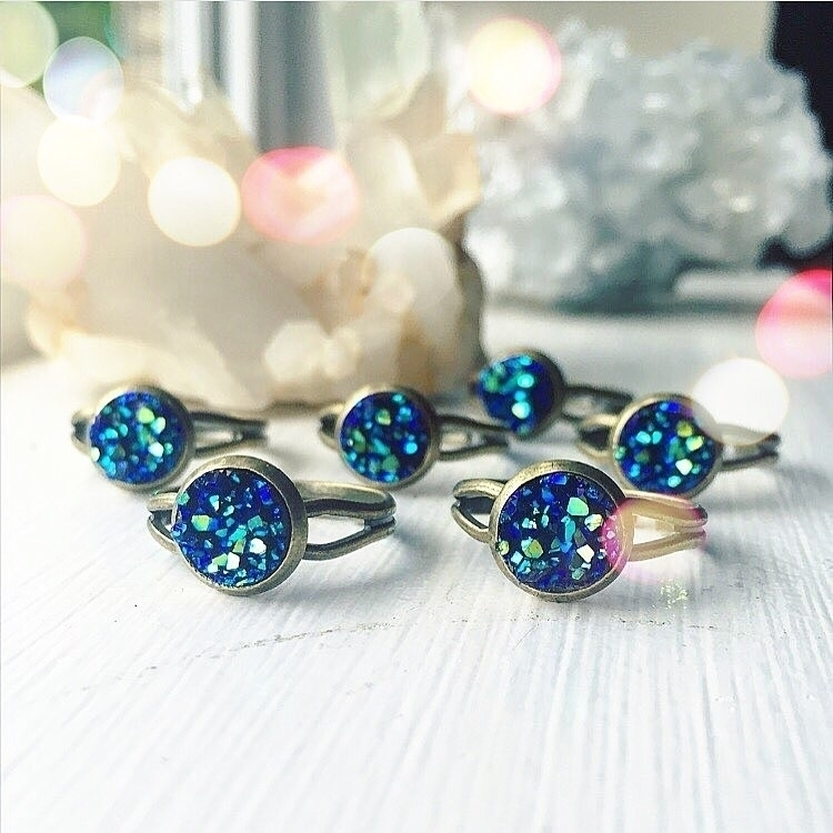 MINI druzy rings shop? 8mm perf - rockswithsass | ello