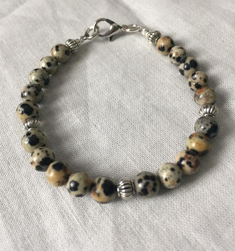 Dalmatian Jasper bracelet sizes - owletinc | ello