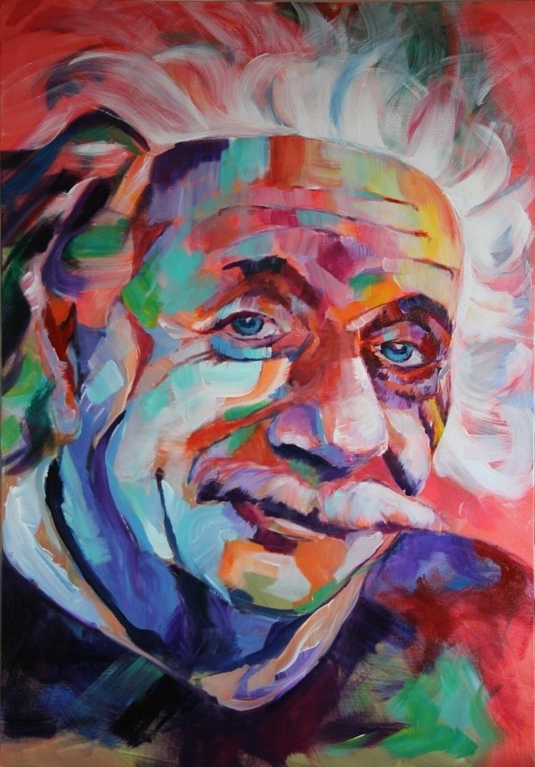 Albert Einstein - portrait, einstein - dimamog | ello